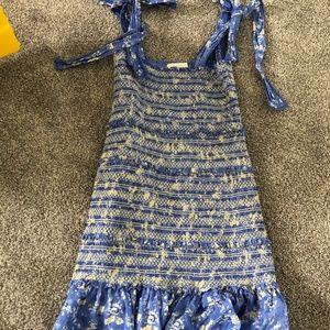 Love Shack Fancy Belle Dress In Bluejay